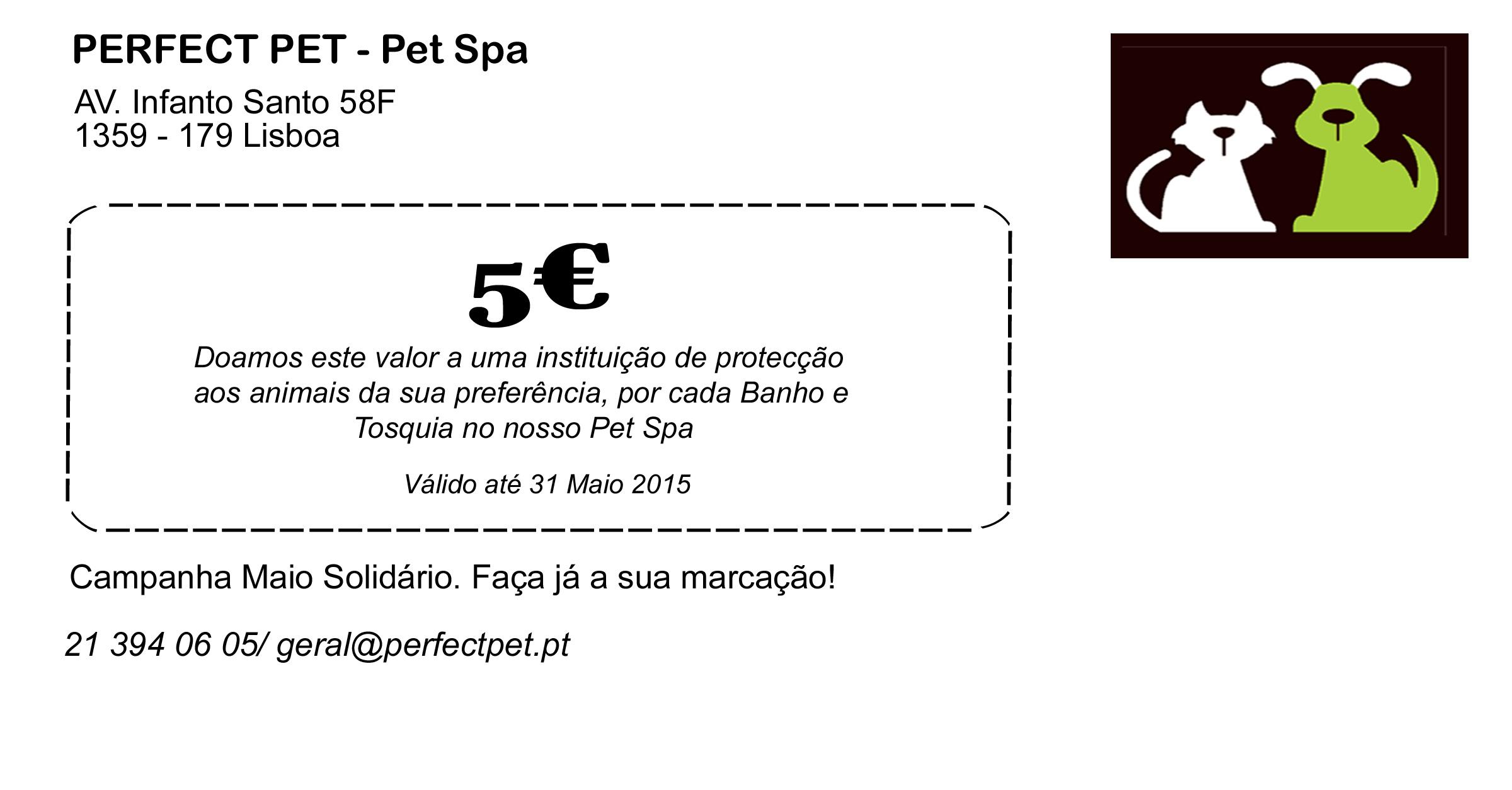Campanha Maio Solidário Perfect Pet